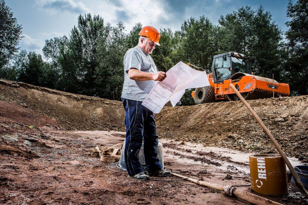 Bauüberwachung durch den Bauleiter/ Polier